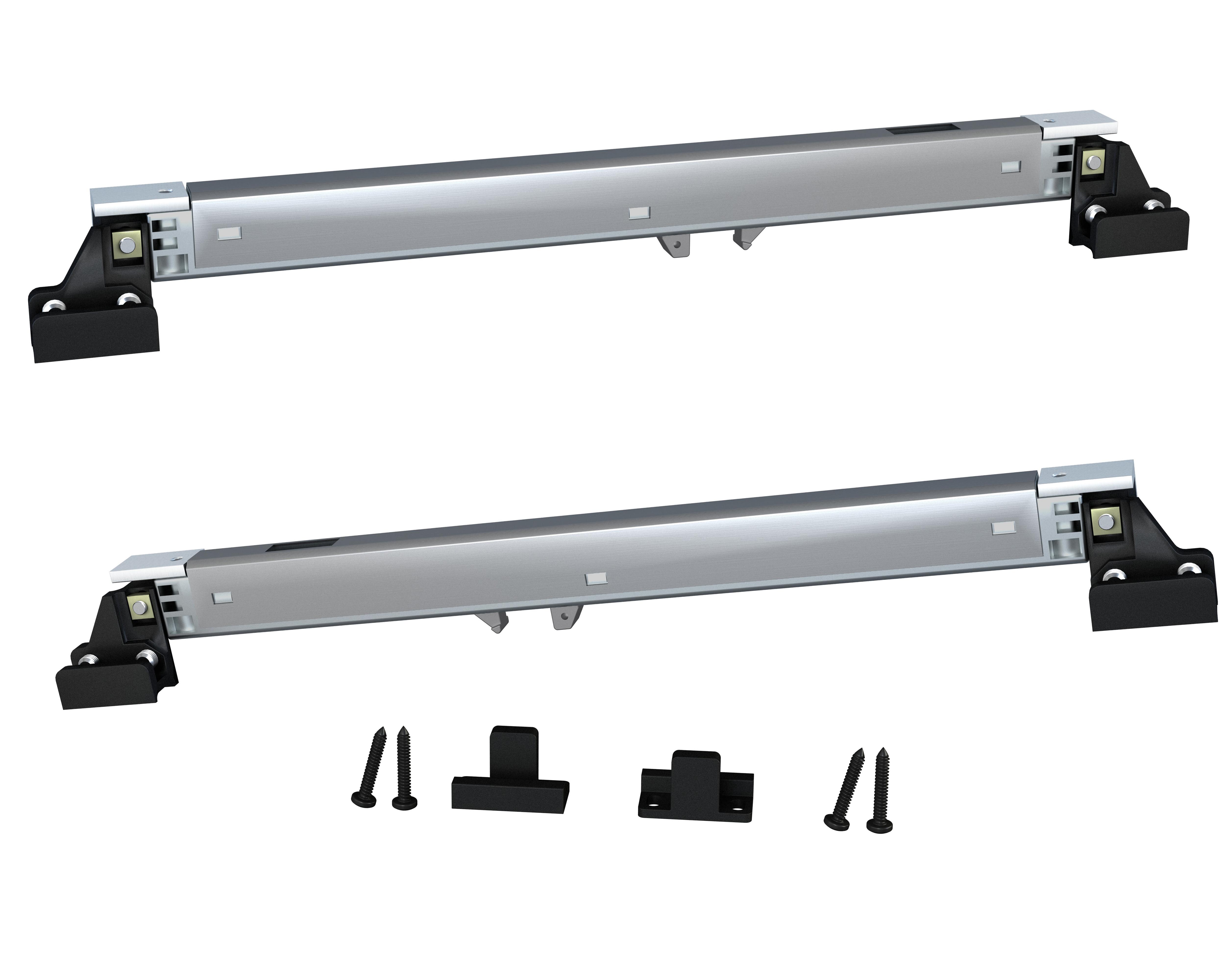 582e1575 New 'soft close' accessory added to Brio open bar rail 80 sliding door  hardware